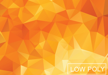 Orange Geometric Low Poly Vector Background - Free vector #369427