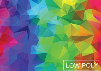 Rainbow Geometric Low Poly Vector Background - Free vector #369447