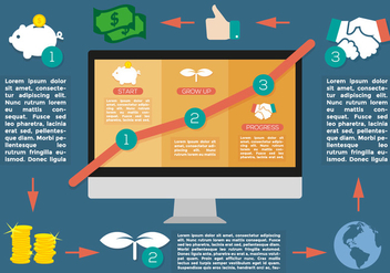 Grow Up Bussiness Infographic Vector - vector gratuit #369607