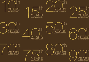 Gold Anniversary Titles - vector #369697 gratis