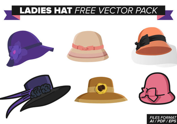 Ladies Hat Free Vector Pack - Kostenloses vector #369727