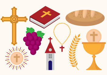 Free Eucharist Icons Vectors - бесплатный vector #369747