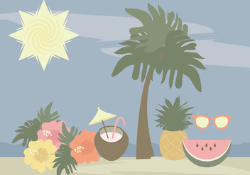 Vector Hawaii Elements - vector gratuit #369777