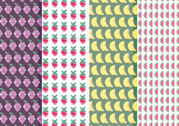 Vector Fruit Pattern Set - vector #369837 gratis
