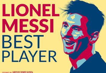 Lionel Messi best player illustration - Free vector #369857
