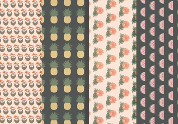 Vector Hawaii Pattern Set - Free vector #369907