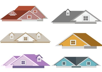 Isolated Rooftops Vector - vector gratuit #369957