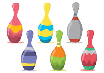 Bowling Pin Vector Set - Free vector #369967