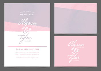 Feminine Vector Wedding Invite - Free vector #369997