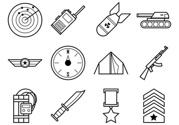 Free World War Icon Vector Pack - бесплатный vector #370087