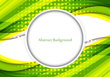 Free Vector Shiny Green Color Wavy Abstract Background - бесплатный vector #370167