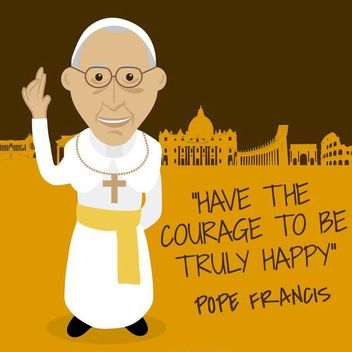 Pope Francis message drawing - vector gratuit #370227
