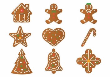 Lebkuchen Icon Set - vector gratuit #370317