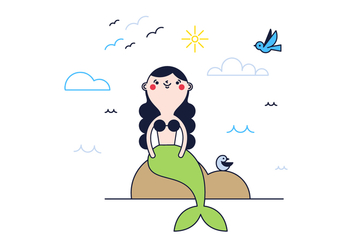 Free Mermaid Vector - vector #370387 gratis