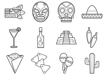Mexican Icon Collection - бесплатный vector #370467
