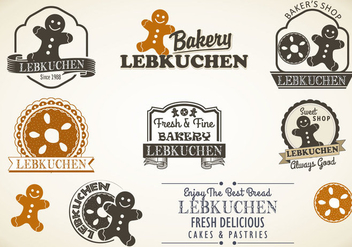 Lebkuchen styles badges vector - бесплатный vector #370537