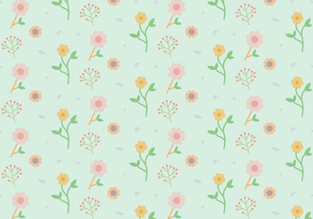 Flowers Pastel Pattern - Free vector #370577