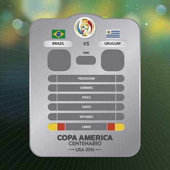 Copa America game result chart - vector gratuit #370697