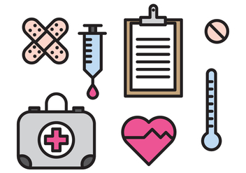 Medical elements - vector gratuit #370787