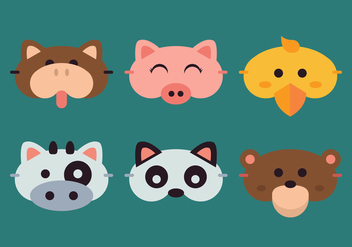 Vector Animal Sleep Mask - бесплатный vector #370797