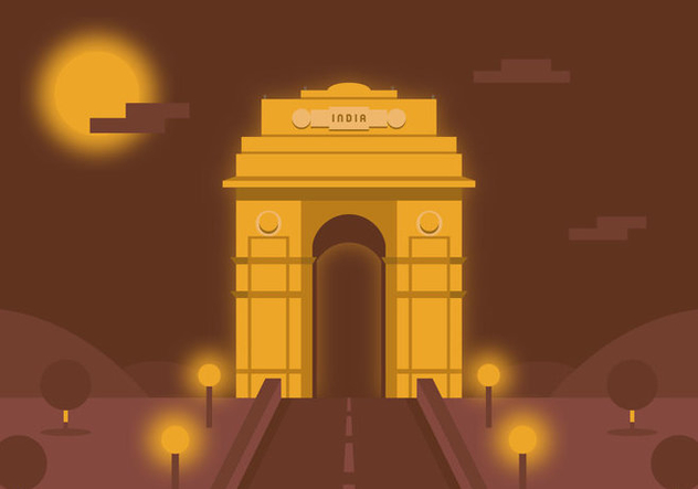 Vector India Gate - Free vector #370837