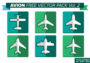 Avion Free Vector Pack - бесплатный vector #370857