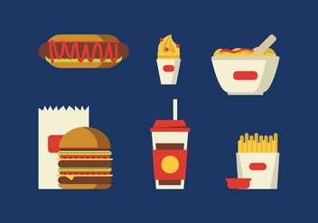 Vector Fast Food - vector gratuit #370867