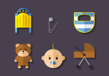 Vector Baby Icon Set - vector gratuit #370877