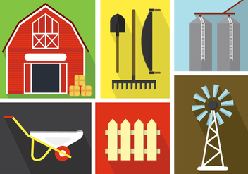 Farm Vector Illustrations - vector gratuit #370947