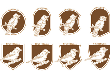 Set Of Nightingale Badges - Kostenloses vector #370957