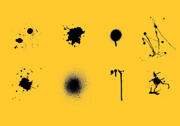 Spraypaint drips vector pack - Kostenloses vector #370977