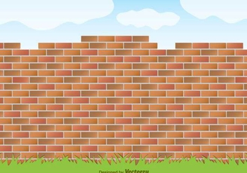 Vector Red Brick Wall - vector #371017 gratis