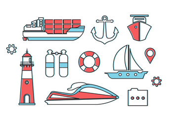 Free Nautica Vector Elements - Free vector #371027