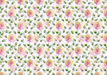 Free Vector Watercolor Floral Background - Kostenloses vector #371067