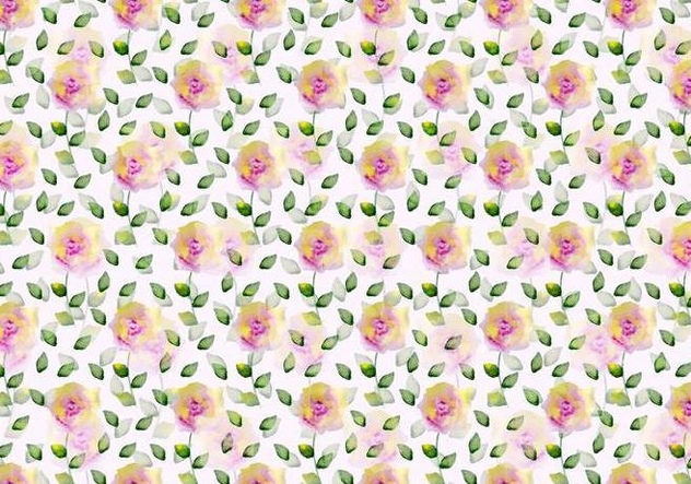 Free Vector Watercolor Floral Background - Free vector #371067