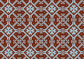 Crosstitch Motif Pattern Background - vector #371147 gratis