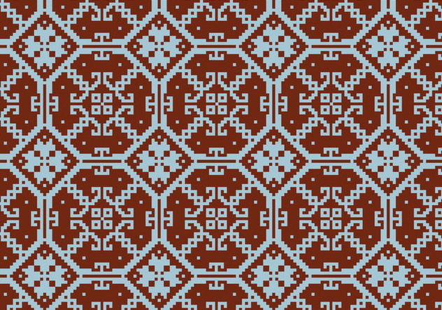 Crosstitch Motif Pattern Background - Free vector #371147