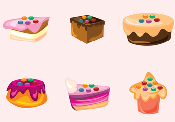 Smarties and Cakes Vectors - Free vector #371177