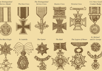War Medals - Free vector #371347