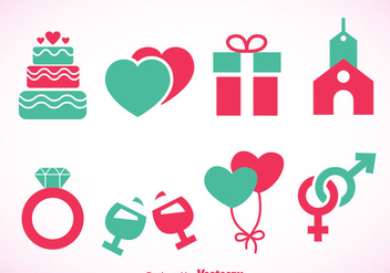 Wedding Element Icons - Free vector #371387