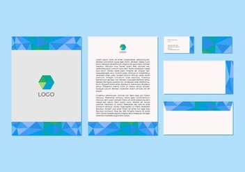 Free Blue Vector Letterhead Design - бесплатный vector #371407
