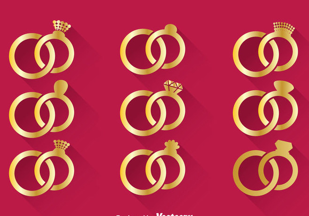Wedding Gold Ring Vector - бесплатный vector #371437