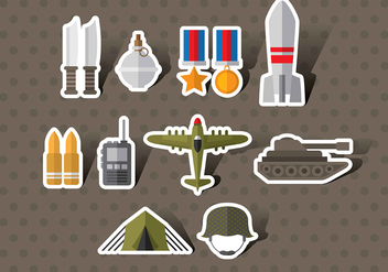World War 2 Icon Vectors - vector #371527 gratis