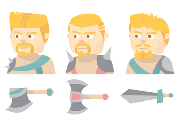 Barbarian Vector Set - Free vector #371537