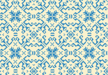 Stitching Blue Pattern - Free vector #371547