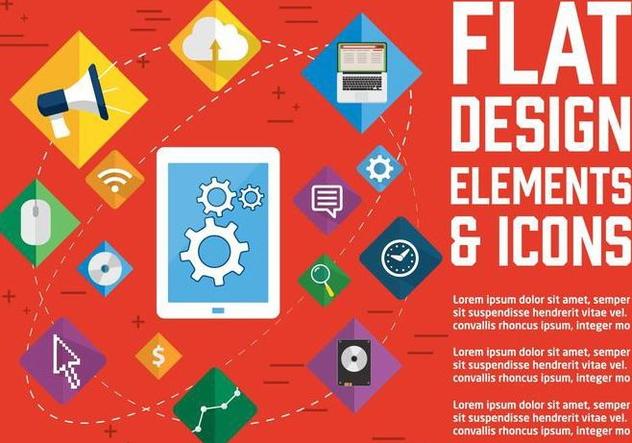 t l chargement du vecteur gratuit free flat design vector icons 371607 cannypic. Black Bedroom Furniture Sets. Home Design Ideas