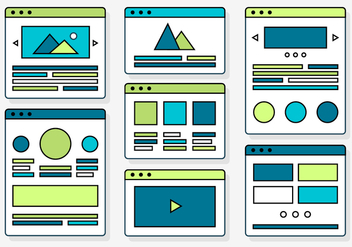 Free Web Design Elements with Vector Icons - Kostenloses vector #371617
