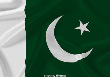 Waving Flag Of Pakistan Vector Background - бесплатный vector #371637