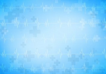 Medical Free Vector Background With Heart Monitor - бесплатный vector #371647