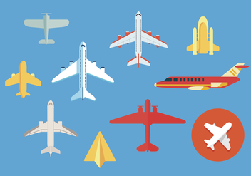 Avion vector illustrations 2 - бесплатный vector #371657